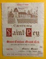 12003  - Château Saint-Pey 1975 Saint Emilion - Bordeaux
