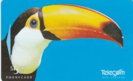 New Zealand, NZ-G-123, Call Of The Wild, Toucan, Bird, 2 Scans.. - Neuseeland