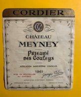 12007  - Château Meyney Prieuré Des Couley 1961 Saint-Estèphe - Bordeaux