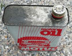 MOTUL MOTOR OIL  Bidon D'huile Ancien En Tole Pour Collection - Voitures