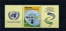 PARAGUAY 2001 - DIALOGUE DIALOGO DIALOG AMONG CIVILIZATIONS CIVILISATIONS - JOINT ISSUE- RARE MNH 2001 - Emissions Communes