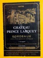 12009  - Château Prince Larquey 1976 - Bordeaux