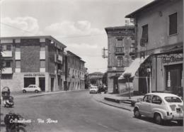 COLLESALVETTI-LIVORNO-VIA ROMA-FIAT 600(TARGA 26482)-VESPA PIAGGIO- CARTOLINA VERA FOTO- NON VIAGGIATA ANNO 1955-1960 - Livorno