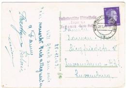 Occupation Carte NESTOMITZ -KR AUSSIG,en.v Luxemburg 1943 - 1940-1944 Deutsche Besatzung