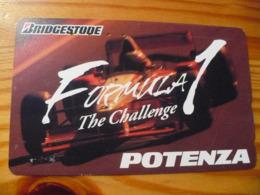 Phonecard Japan 110-011 Car Race - Japan