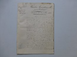 86 Saint-Benoît 1868 Accident Chemin De Fer E. Solacroup Vs L. Surrault (yeux Crevés)   ; Ref 821 ; PAP09 - Historical Documents