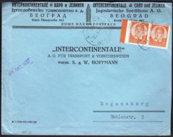 Yugoslavia Serbia Belgrade 1937 / 3 D / King Peter II / Intercontinentale & Caro Und Jelinek, Speditions - 1931-1941 Königreich Jugoslawien