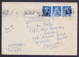 SPAIN Postal History Cover, Used 1990 With Slogan Postmark - 1931-Heute: 2. Rep. - ... Juan Carlos I