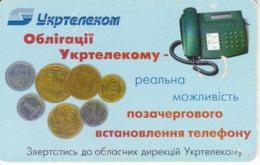 TARJETA UCRANIA DE 40 UNITS CON UNAS MONEDAS (MONEDA-COIN) - Ukraine