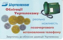 TARJETA UCRANIA DE 60 UNITS CON UNAS MONEDAS (MONEDA-COIN) - Ukraine