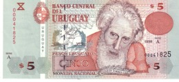Uruguay P.80 5 Pesos 1998  Unc - Uruguay