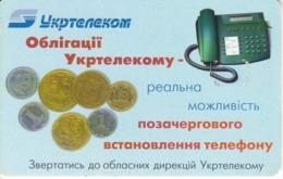 TARJETA UCRANIA DE 90 UNITS CON UNAS MONEDAS (MONEDA-COIN) - Ukraine