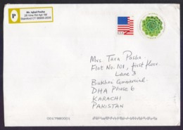 USA United States Of America, Postal History Cover Used 2019, Rose Round Shape Stamp Affixed - Brieven En Documenten