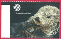 Ticket De L'aquarium De Lisbonne. Portugal. Visuel: Une Loutre. 2019. - Tickets D'entrée