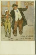 A. MICHELI - ITALIAN RED CROSS / CROCE ROSSA ITALIANA - NON SPUTARE PER TERRA - 1920s (BG613) - Illustrators & Photographers