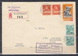 Reccomandée Brief Van Kreuzlingen Naar Adalsnes Norge - Suisse