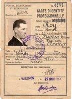 CARTE D'IDENTITÉ PROFESSIONNELLE - Historische Dokumente