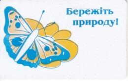 TARJETA UCRANIA DE 1680 UNITS DE UNA MARIPOSA (BUTTERFLY) - Oekraïne
