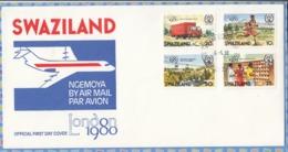 Swaziland (now Eswatini) - 1980 - London 80 International Stamp Exhibition - Trucks