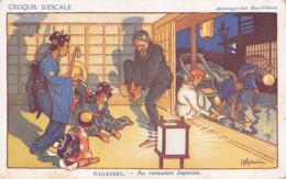 CPA - CROQUIS D'ESCALE - NAGASAKI - Au Restaurant Japonais - Gervèse - Gervese, H.