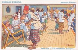 CPA - CROQUIS D'ESCALE - Colombo - Les Marchands De Bijoux - Gervèse - Gervese, H.