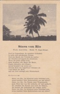 AK Stern Von Rio - Feitz - Engel-Berger - Liedtext - 1943  (44494) - Muziek En Musicus