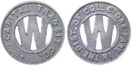 01556 GETTONE JETON TOKEN TRASPORTO TRANSIT DISTRICT OF COLUMBIA, WASHINGTON, 1933 - USA