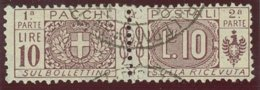 ITALIA REGNO VITTORIO EMANUELE III SASS.  P. P. 16a  USATO - Paketmarken