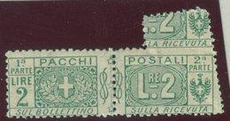 ITALIA REGNO VITTORIO EMANUELE III SASS.  P. P. 13he  NUOVO - Paketmarken