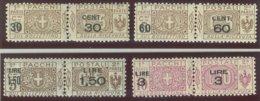 ITALIA REGNO VITTORIO EMANUELE III SASS.  P. P. 20-23 NUOVI - Paketmarken