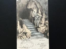 CPA De 1903 Dos Simple Hôtel Bellevue Grottes De Han Salle Vigneron Avec Tampon De L'hôtel - Rochefort