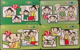 4 Mobilecards Thailand - 12Call / AIS - Comic - Thailand
