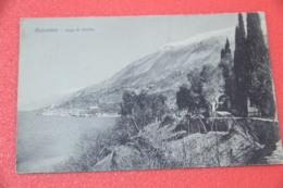 Lago Di Garda Verona Malcesine 1920 Veduta Insolita Ed. Brunner - Verona