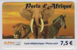 TOP COLLECTION  - Carte Prépayée Française - Lion - Elephant - Zèbre - Voir Scans - Frankrijk