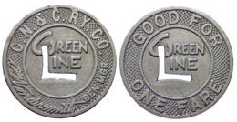 01231 GETTONE JETON TOKEN TRASPORTO TRANSIT KENTUCKY, COVINGTON. 1953 - USA
