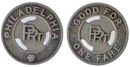 01550 GETTONE JETON TOKEN TRASPORTO TRANSIT PENNSYLVANIA, PHILADELPHIA, 1924 - USA