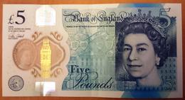 United Kingdom UK ENGLAND 5 Pounds (2015) 2016 VF SERIES AA  (free Shipping Via Registered Air Mail.) - 1952-… : Elizabeth II