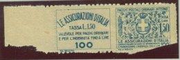 ITALIA REGNO VITTORIO EMANUELE III SASS.  FRANCOBOLLO ASSICURATIVO 9   NUOVO - Versichert