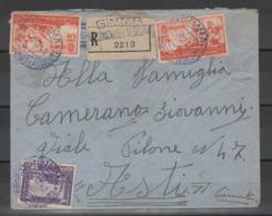 A.O.I. 1940 - Lettera Raccomandata Con Affrancatura Mista AOI/Somalia              (g6081) - Africa Orientale Italiana