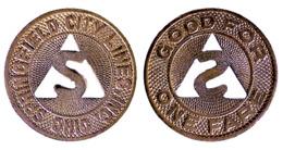 04119 GETTONE JETON TOKEN TRASPORTO TRANSIT OHIO, SPRINGFIELD, 1948 - Verenigde Staten