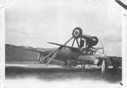 AVION NIEUPORT DELAGE ESCADRILLE DES CIGOGNES AVION ACCIDENTE PHOTO ORIGINALE FORMAT 8.50 X 6.50 CM - Aviation