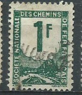 Timbre Colis Postaux 1944 Yvt N° 1 Vert Bleu - Afgestempeld