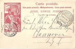 PK 32 SS UPU  Berne - Hannover  (Sonderstempel)           1900 - Postwaardestukken
