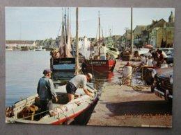 """CP 44 LE CROISIC, Le Port Les Bateaux De Pêche """" LaMadone Et La Bourakan """" , Voilier  A Quai  1972 - Le Croisic"""