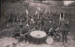 CARTE PHOTO Rampont Août 1918 La Musique Du 372e R.I. - France