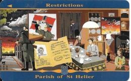CARTE-MAGNETIQUE-GB-2£-GUERRE 1939/45-RESTRICTIONS-Paroisse De ST HELIER-TBE-RARE - Verenigd-Koninkrijk