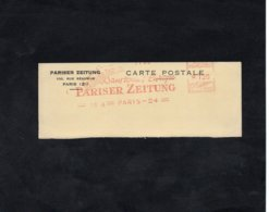 EMA - PARISER ZEITUNG   Sur   FRAGMENT Découpé - EMA ( Maquina De Huellas A Franquear)