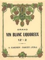 Parcey Canton Dole étiquette Vin Gardien - France