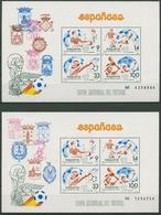 Spanien 1982 Fußball-WM Spanien Block 25/26 Postfrisch (C91697) - Blocs & Feuillets