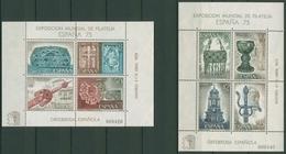 Spanien 1975 ESPANA'75 Goldschmiedearbeiten Block 19/20 Postfrisch (C91708) - Blocs & Feuillets
